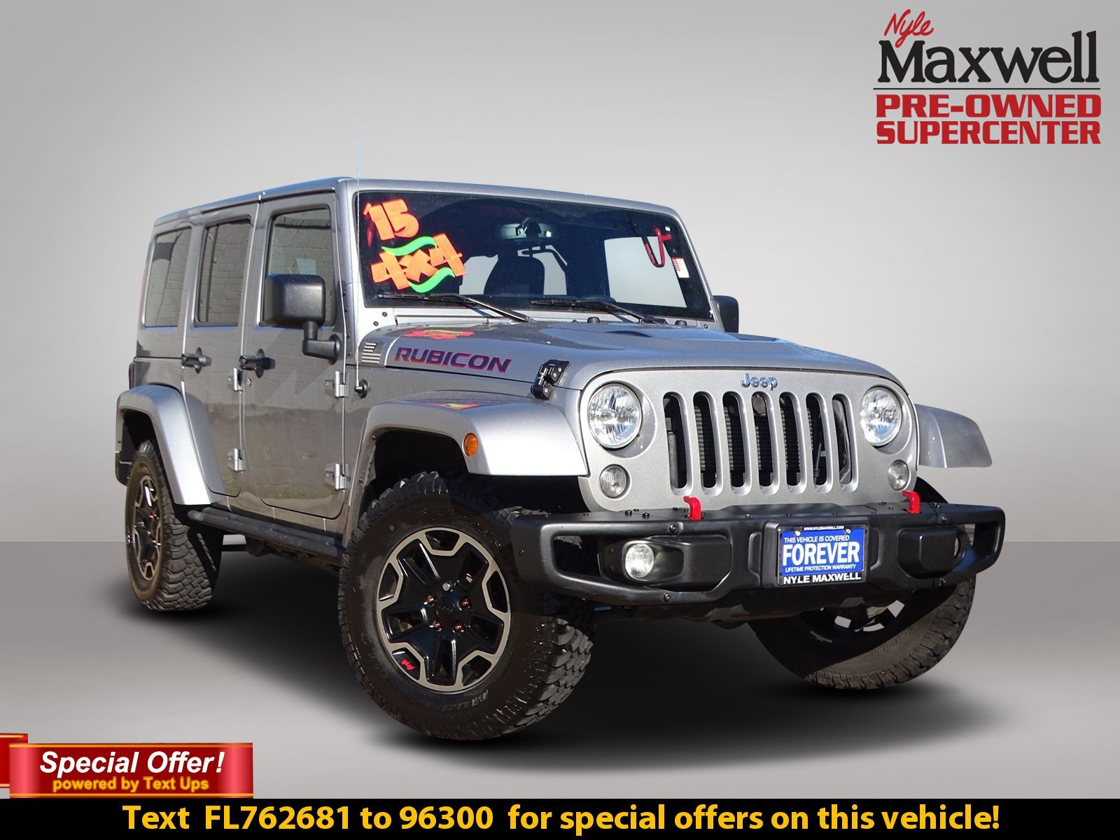 Certified Pre-Owned 2015 Jeep Wrangler Unlimited Rubicon Hard Rock